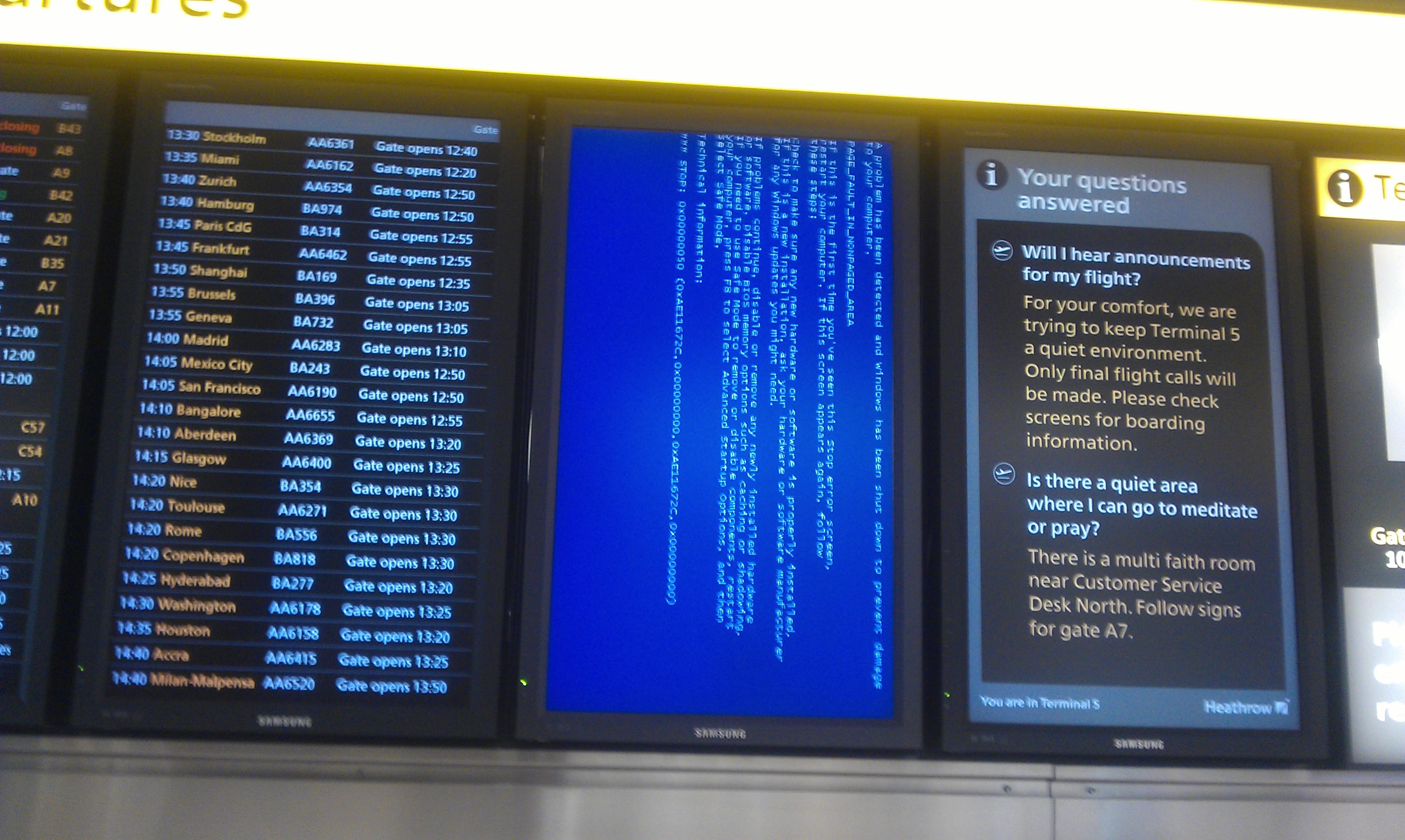 Systemen luchthaven Cleveland getroffen door ransomware